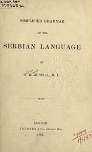 Cover of: Simplified grammar of the Serbian language