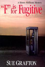 "Cover of: ""F"" is for fugitive: a Kinsey Millhone mystery"