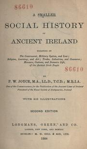 Cover of: A smaller social history of ancient Ireland