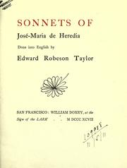 Cover of: Sonnets of José-Maria de Heredia