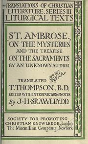 Cover of: St. Ambrose