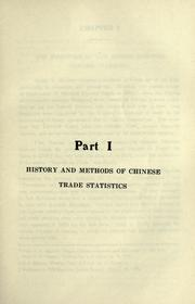 Cover of: The statistical comparisons of the foreign trade of China, before and after the great war. | Ming-Ju Cheng
