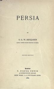 Cover of: The Story of Persia | Samuel Greene Wheeler Benjamin