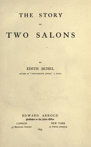Cover of: The story of two salons