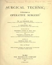 Cover of: Surgical technic