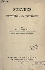Cover of: Surveys, historic and economic