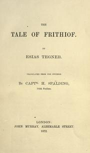 Cover of: The tale of Frithjof