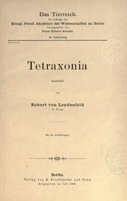 Cover of: Tetraxonia