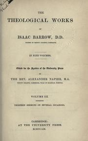 Cover of: Theological works