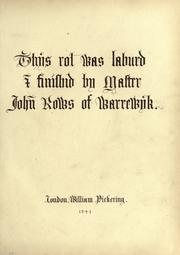 Cover of: This rol was laburd & finished by Master John Rows of Warrewyk