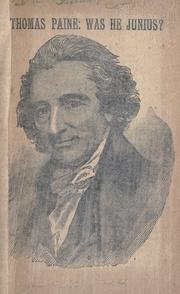 Thomas Paine by William Henry Burr