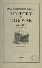 Cover of: The Times history of the war. |