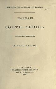 Cover of: Travels in South Africa