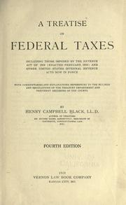 Cover of: A treatise on federal taxes