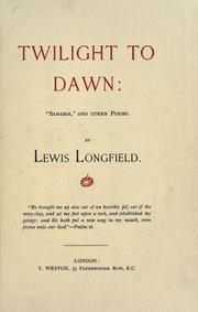 Cover of: Twilight to dawn | Lewis Longfield