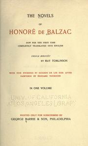 Cover of: Ursule Mirouët | HonorГ© de Balzac