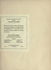 Cover of: Proceedings of the conference on valuation held in Philadelphia November 10th to 13th, 1915, under the auspices of the Utilities Bureau. | Conference on Valuation.