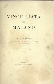 Cover of: Vincigliata and Maiano