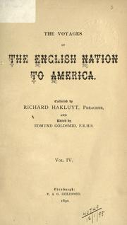 Cover of: voyages of the English nation to America, before the year 1600 | Richard Hakluyt
