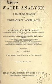 Cover of: Water-analysis