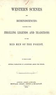 Cover of: Western scenes and reminiscences