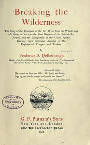 Cover of: Breaking the wilderness