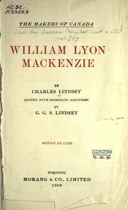 William Lyon Mackenzie by Charles Lindsey