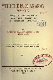 Cover of: With the Russian army, 1914-1917 | Knox, Alfred Sir