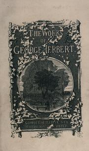 Cover of: The works of George Herbert, in prose and verse. | George Herbert