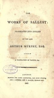 Cover of: The works of Sallust | Sallust