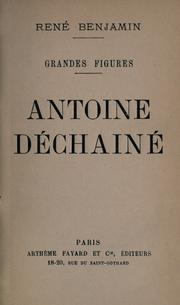 Cover of: Antoine déchainé