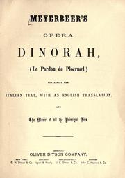 Cover of: Dinorah, (Le pardon de Ploermel)