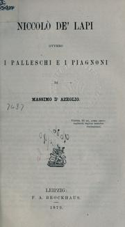 Cover of: Niccolò de'Lapi