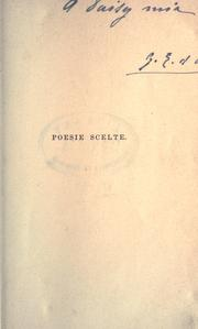 Cover of: Poesie scelte