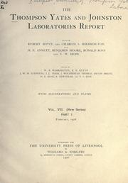 Thompson Yates and Johnston laboratories report.