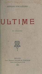 Cover of: Ultime