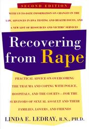 Cover of: Recovering from rape | Linda E. Ledray