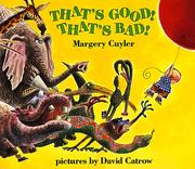 Cover of: That's Good! That's Bad! (An Owlet Book)
