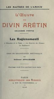 Cover of: L' oeuvre du divin Arétin