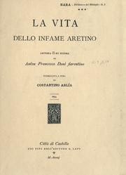Cover of: La vita dello infame Aretino