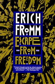 Cover of: Escape from freedom