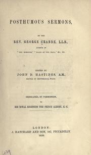 Cover of: Posthumous sermons | George Crabbe