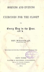Cover of: Morning and evening exercises for the closet for every day in the year