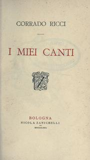 Cover of: I miei canti