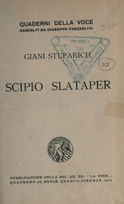 Cover of: Scipio Slataper
