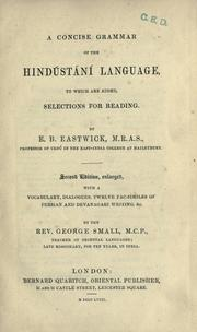 Cover of: A concise grammar of the Hindústání language