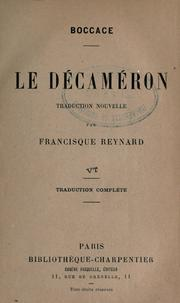 Cover of: Le Décaméron