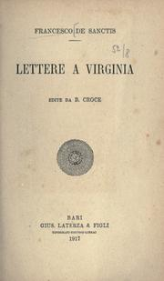 Cover of: Lettere a Virginia