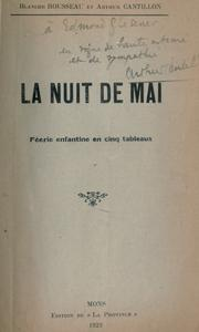 Cover of: La nuit de mai