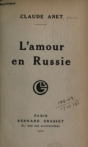 Cover of: L' amour en Russie